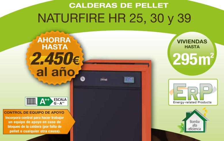 caldera de pellets naturfire 25