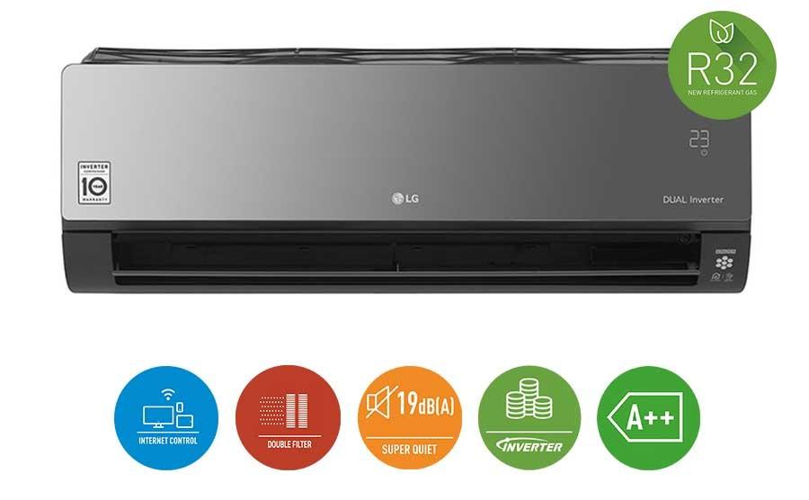 Precio Aire acondicionado LG Art Cool Mirror Connect AC12BQ