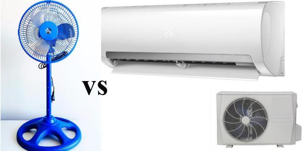 consumo electrico aire acondicionado vs ventilador