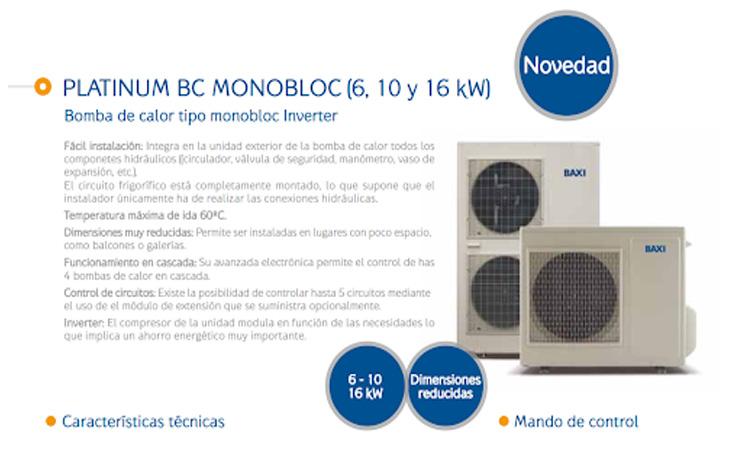Bomba de calor Baxi Platinum BC Monobloc 10 MR oferta