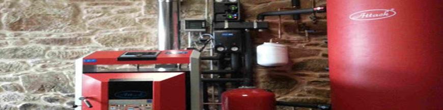 Calefacción gasoil 3 radiadores 30 elementos caldera gasoil