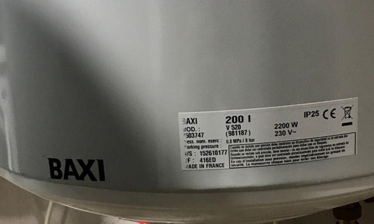 oferta Termo Baxi V280 Vertical