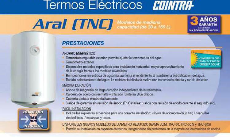 Termo Cointra TNC plus-80 precio